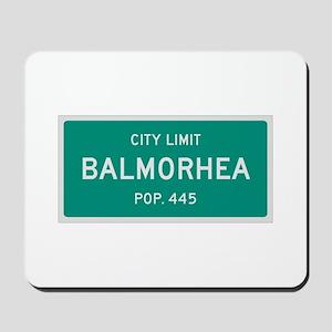 Balmorhea, Texas City Limits Mousepad