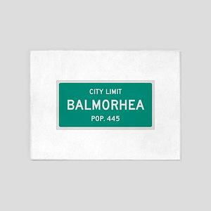 Balmorhea, Texas City Limits 5'x7'Area Rug