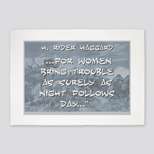 For Women Bring Trouble - Haggard 5'x7'Area Rug