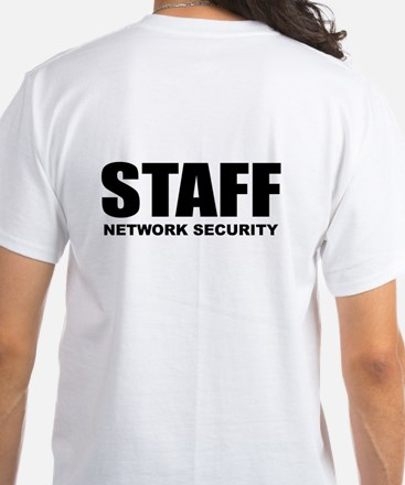 Staff: Network Security White T-Shirt