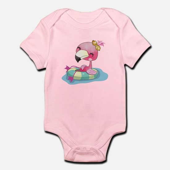 Flamingo Swimming Infant Bodysuit