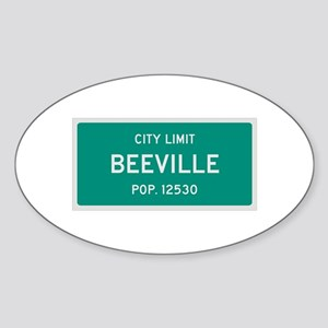 Beeville, Texas City Limits Sticker