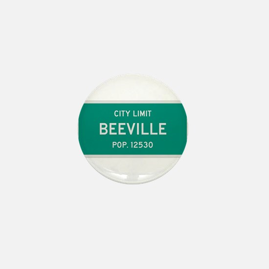 Beeville, Texas City Limits Mini Button