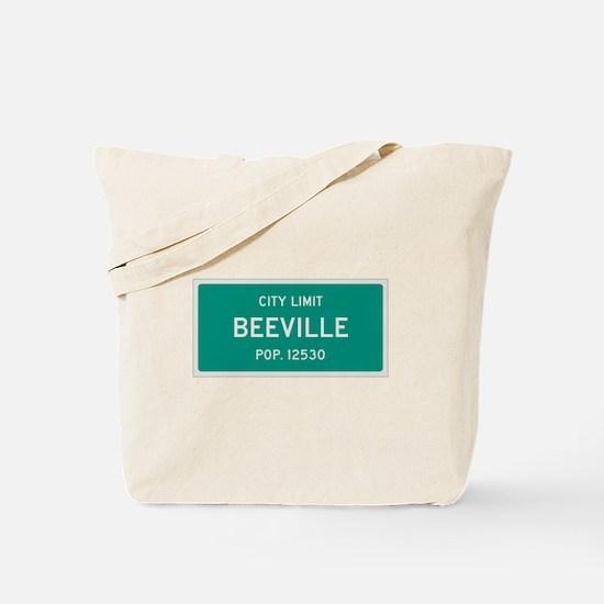 Beeville, Texas City Limits Tote Bag