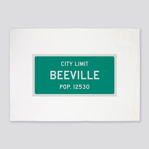 Beeville, Texas City Limits 5'x7'Area Rug