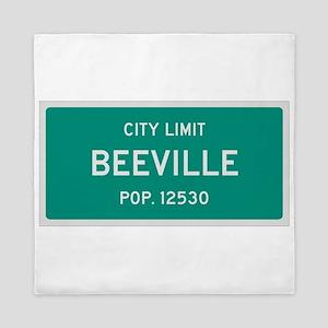 Beeville, Texas City Limits Queen Duvet