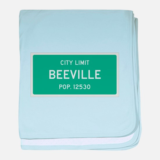 Beeville, Texas City Limits baby blanket