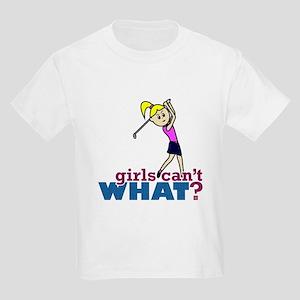 Girl Playing Golf Kids Light T-Shirt