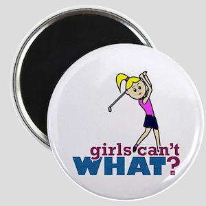 Girl Playing Golf Magnet