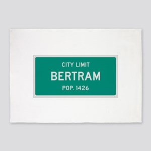 Bertram, Texas City Limits 5'x7'Area Rug