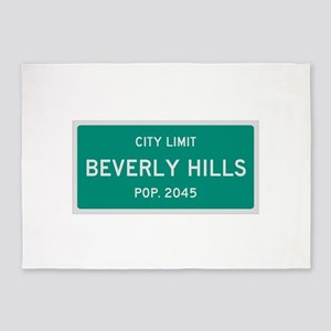 Beverly Hills, Texas City Limits 5'x7'Area Rug