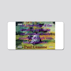 The Knowledge Of The Means - Paul Cezanne Aluminum