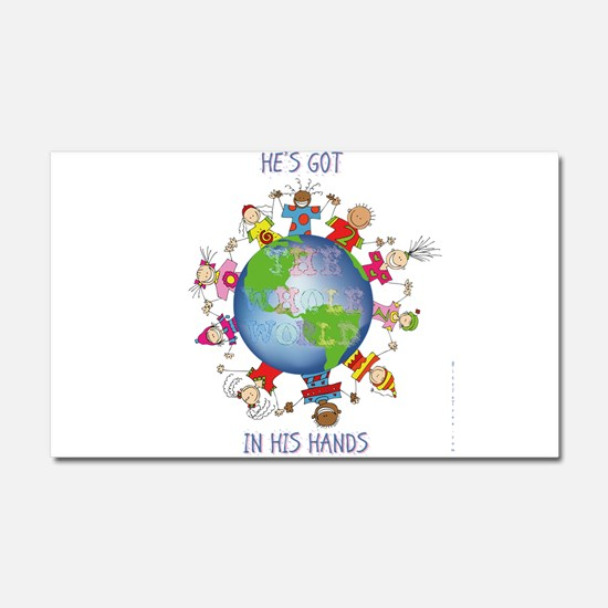 Hes Got the Whole World in His Hands Car Magnet 20