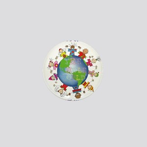 Hes Got the Whole World in His Hands Mini Button