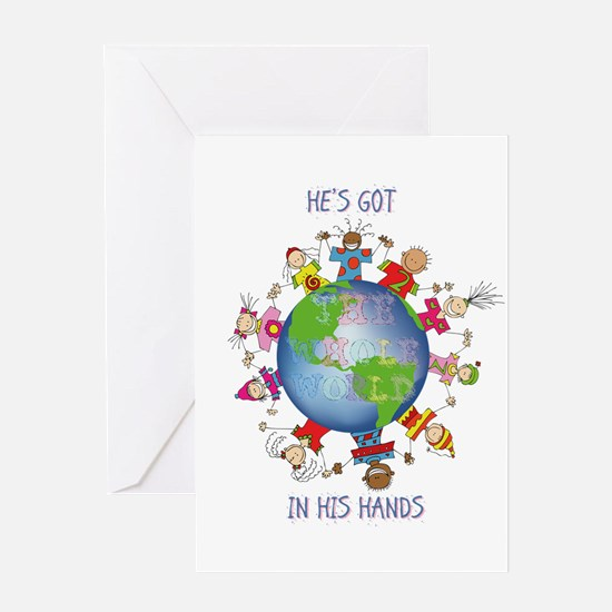 Hes Got the Whole World in His Hands Greeting Card