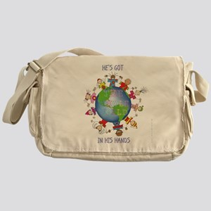 Hes Got the Whole World in His Hands Messenger Bag