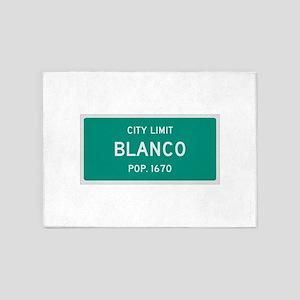 Blanco, Texas City Limits 5'x7'Area Rug