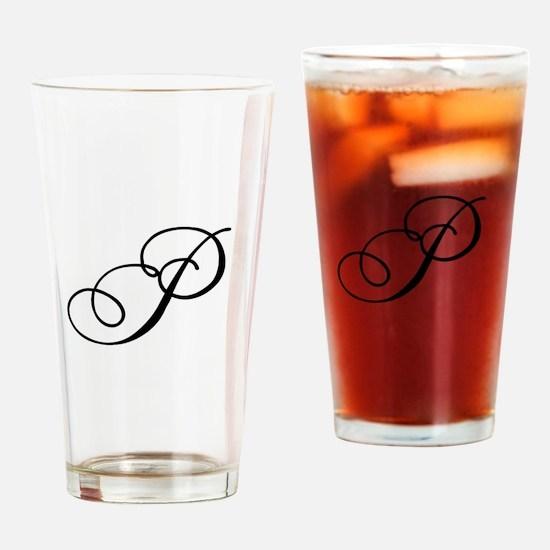 Champagne Monogram P Drinking Glass