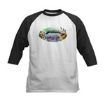 Pond and Bridge Watercolor Baseball Jersey