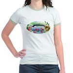 Pond and Bridge Watercolor T-Shirt
