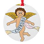 CHERUBS CDH Charity Round Ornament