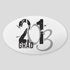 2013 Graduate Oval Sticker