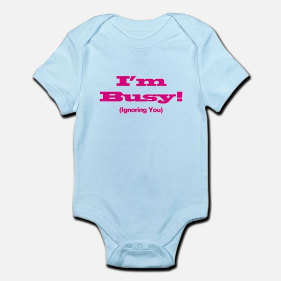 I'm Busy - Hot Pink Body Suit