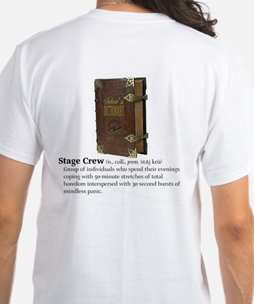 Actor's Dictionary Stage Crew White T-Shirt
