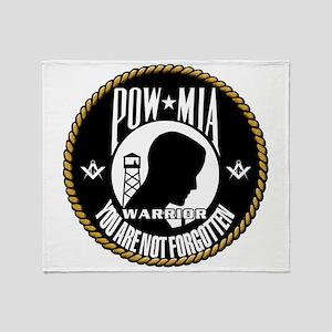 POW/MIA Masonic Throw Blanket