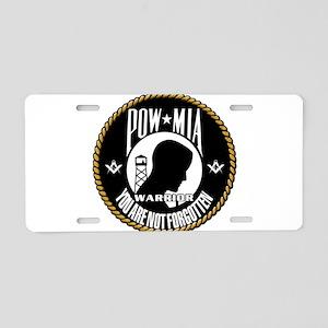 POW/MIA Masonic Aluminum License Plate