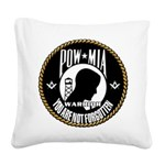 POW/MIA Masonic Square Canvas Pillow