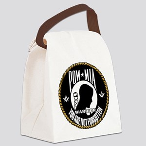 POW/MIA Masonic Canvas Lunch Bag