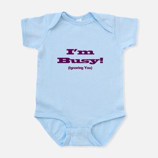 I'm Busy - Purple Body Suit