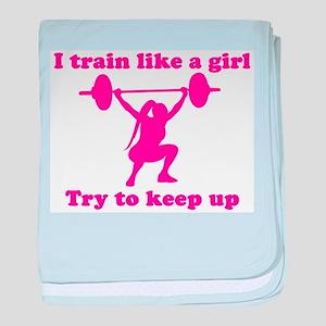 Train Like a Girl baby blanket