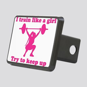 Train Like a Girl Hitch Cover