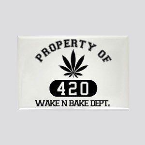 Wake n Bake Rectangle Magnet