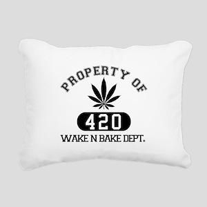 Wake n Bake Rectangular Canvas Pillow