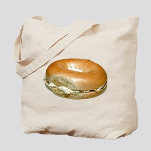Bagel and Cream Cheese Tote Bag