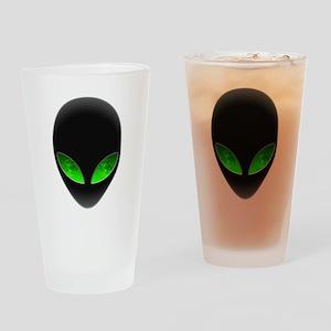 Cool Alien Earth Eye Reflection Drinking Glass