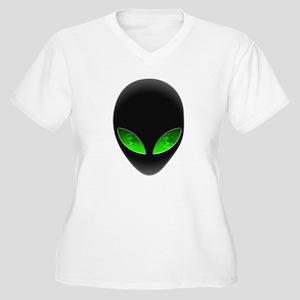 Cool Alien Earth Eye Reflection Plus Size T-Shirt