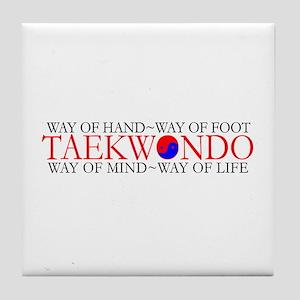 Tae Kwon Do Philosophy Tile Coaster