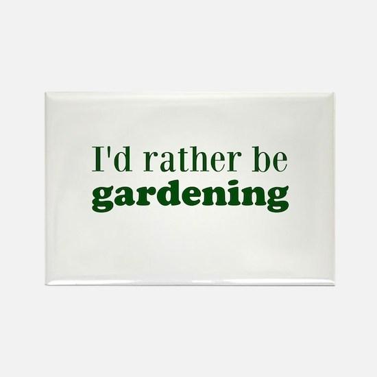 Gardening Rectangle Magnet