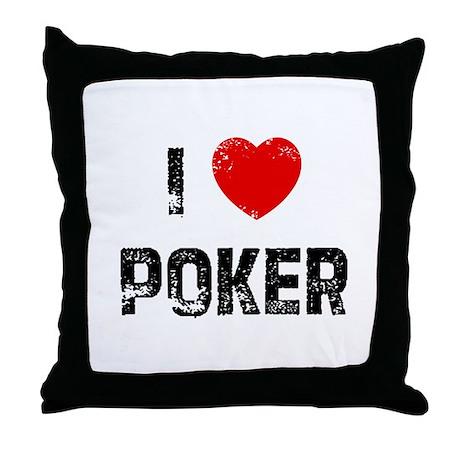 I * Poker Throw Pillow