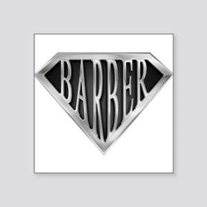 SuperBarber(metal) Rectangle Sticker