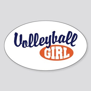 Volleyball Girl Oval Sticker