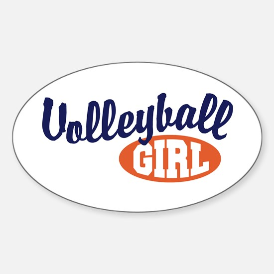 Volleyball Girl Oval Decal