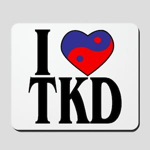I Love Heart Tae Kwon Do Mousepad