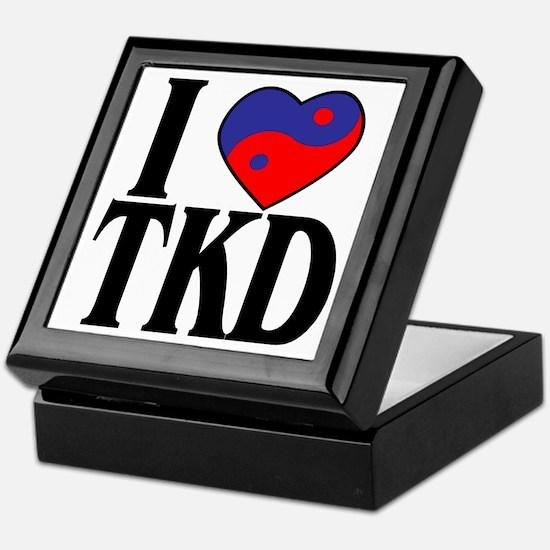I Love Heart Tae Kwon Do Keepsake Box