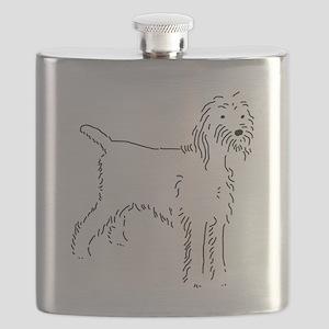 Spinone Italiano Sketch Flask