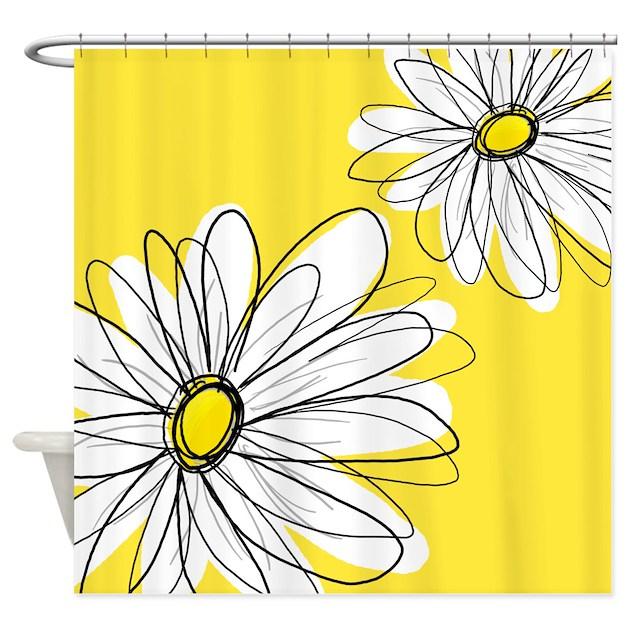 Daisy Kitchen Decor: Ye... Shower Curtain By MarshEnterprises